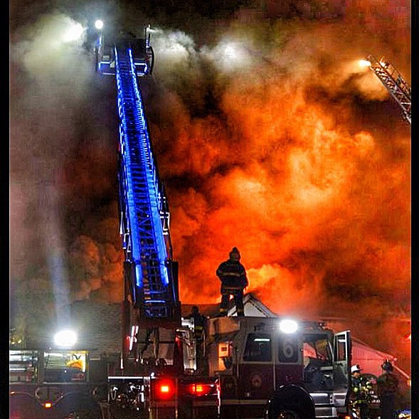 Tower 6 on the 4th alarm last night chestertownvfc chestertownmdhellip