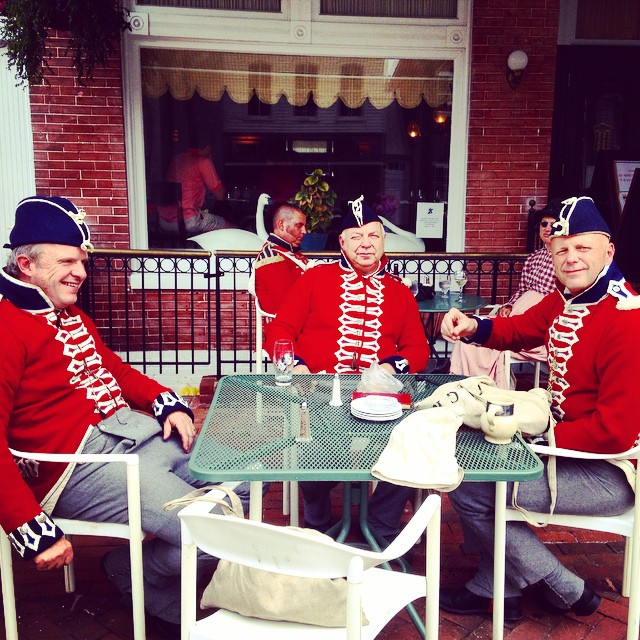 British Royal Marines enjoying refreshments at The Imperial in downtownchestertown…
