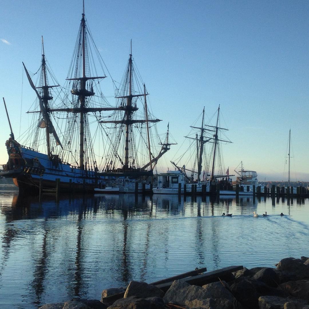 tallships in downtownchestertown  its downriggging weekend! kalmarnyckel schoonersultana