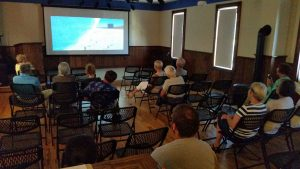 Community members gathered to watch Blue Gold: World Water Wars in Sumner Hall