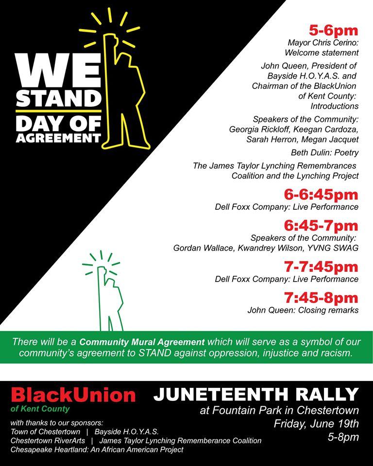 Juneteenth Rally Schedule