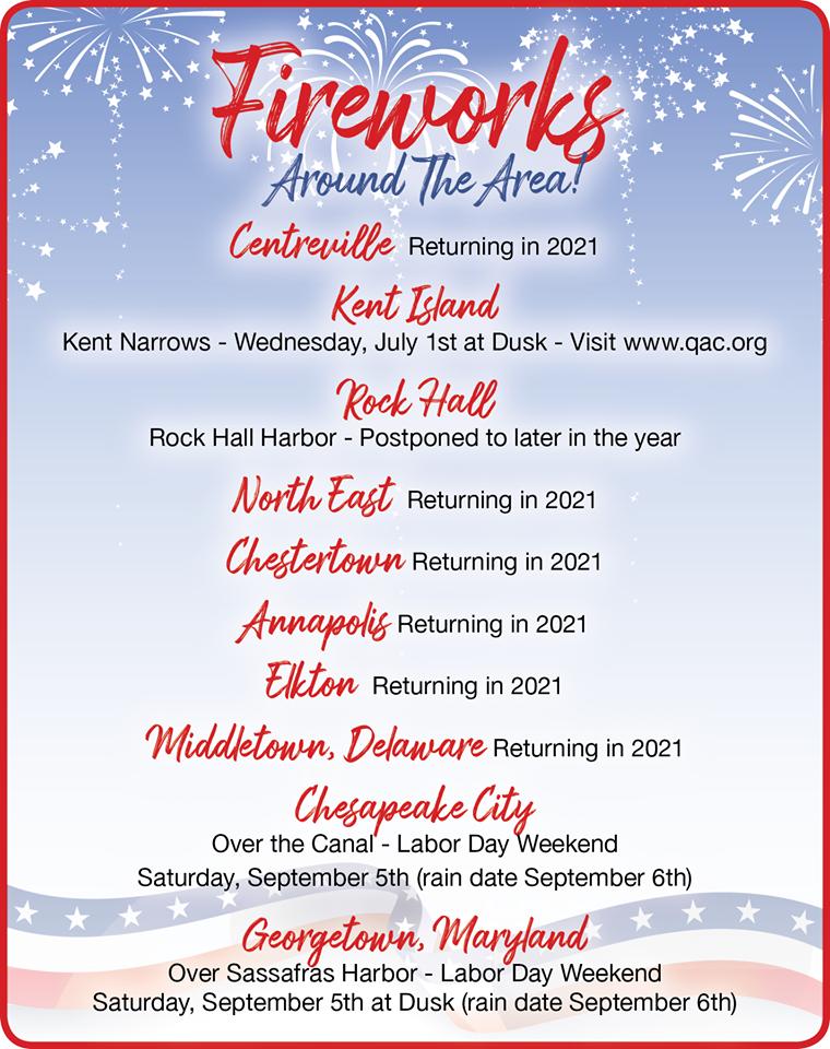 Local Fireworks Schedule
