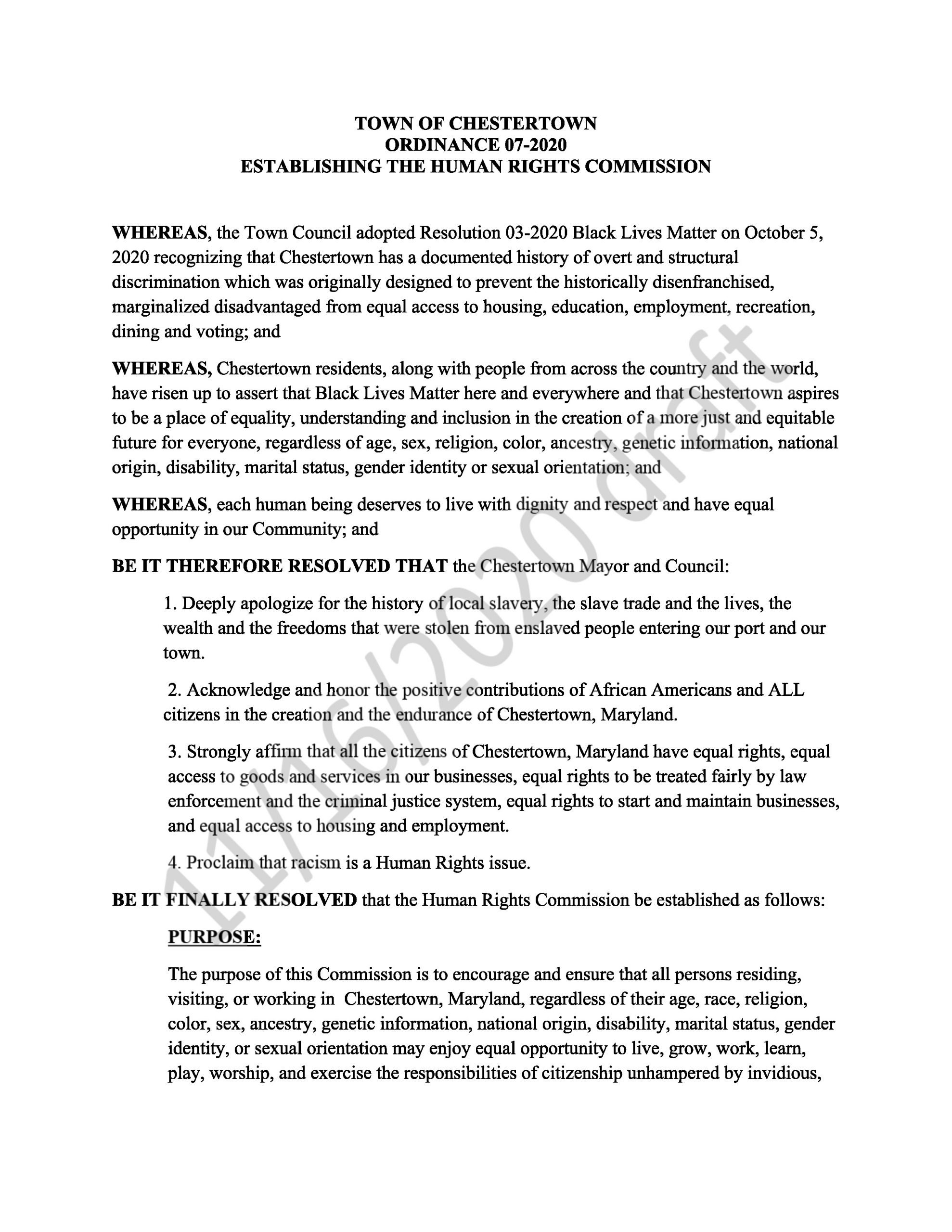 Human Rights Resolution Page 1